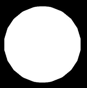 Eine weiße Leere in Kugelform