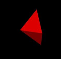 Struktur aus zwei Dreiecken