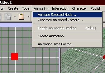 Animation in Flux Studio ausgewählt