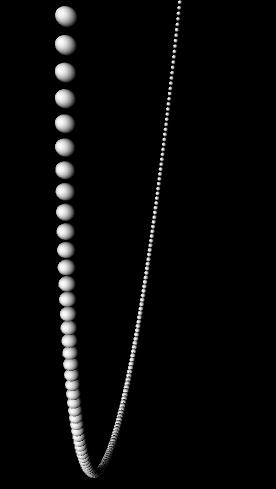 Kreis aus 360 Kugeln
