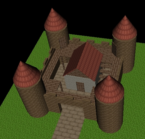 X3D Szene mit einer Burg