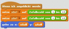 Programm für den Ball