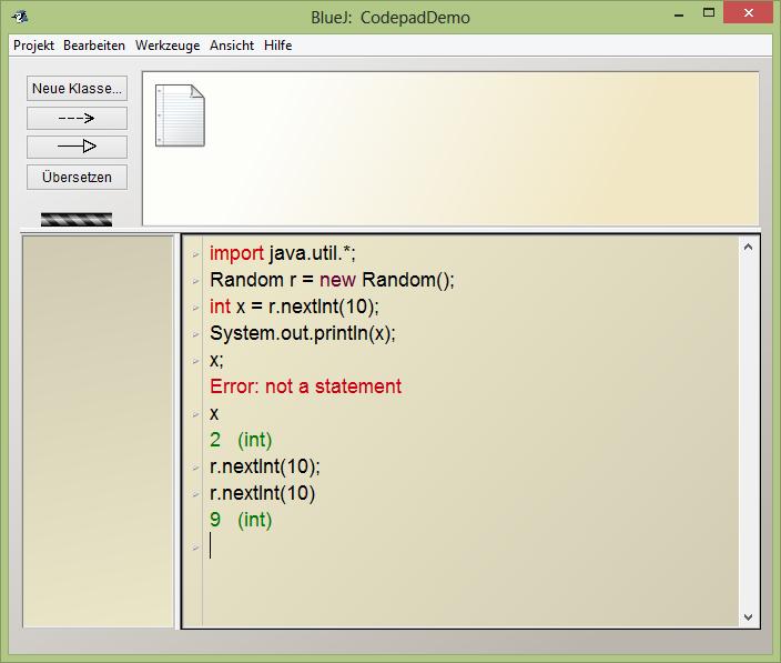 Codepad Demo