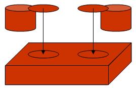 Vereinfachte Struktur eines Legosteins