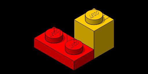 Abmessungen der Legobausteine