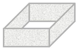 Zaun um ein rechteckiges Gehege