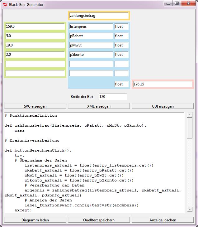 Grafische Benutzeroberfläche zur automatisierten Erzeugung von GUIs