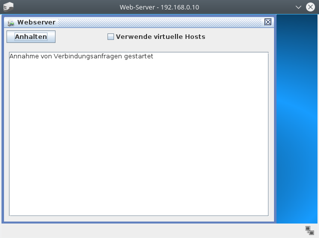 Server-Software gestartet