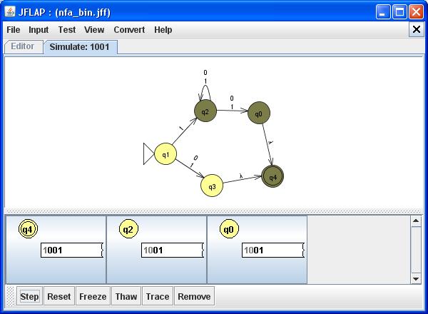 JFlap - Nichtdeterminischer Automat