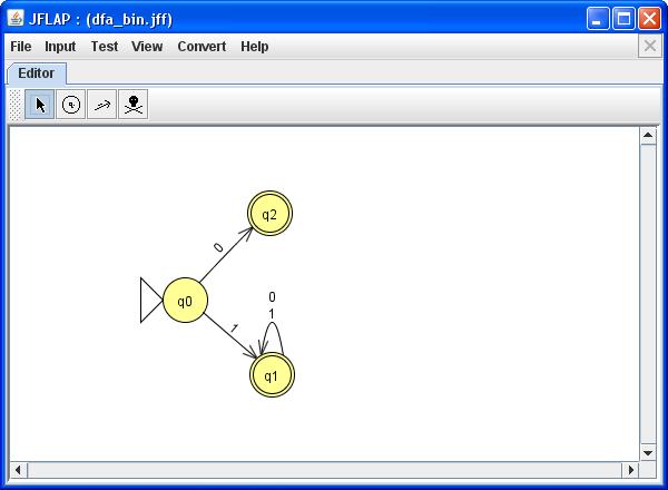 Akzeptor für Binärzahlen
