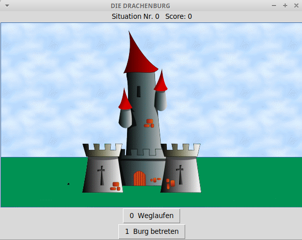 Bildschirm-Foto des Drachenspiels