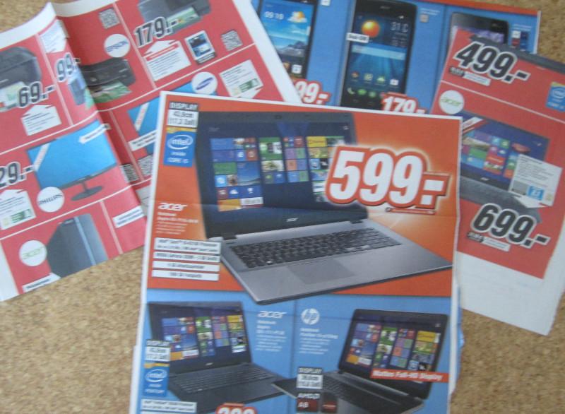 Auswahl an Angeboten von PC-Händlern