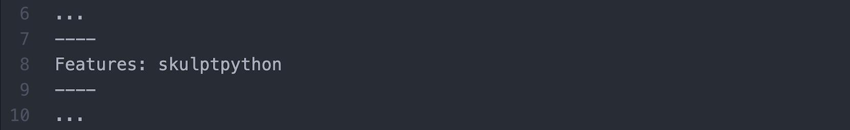 Beispielquelltext für die Einbindung von Skulpt Python über das Meta-Tag features